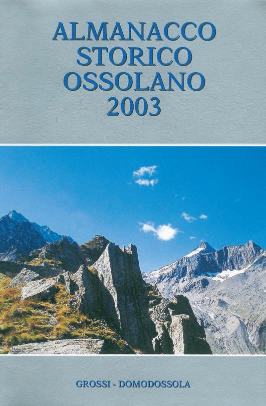 Almanacco Storico Ossolano 2003