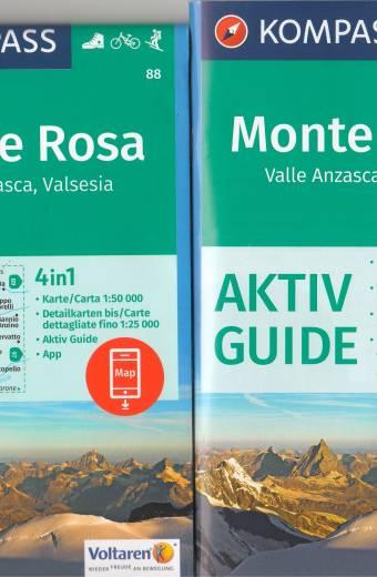 Monte Rosa, Valle Anzasca, Valsesia (Kompass)