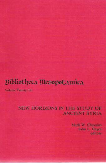 New Horizons in the Study of Ancient Syria